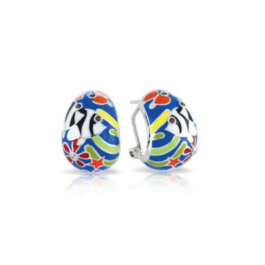 Belle Etoile Angelfish Blue Earrings