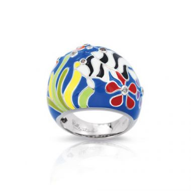 Belle Etoile Angelfish Blue Ring