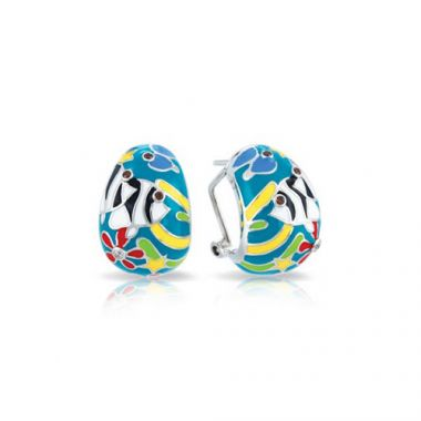 Belle Etoile Angelfish Teal Earrings