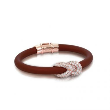 Belle Etoile Ariadne Brown & Rose Bangle