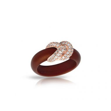 Belle Etoile Ariadne Brown & Rose Ring
