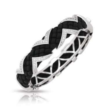 Belle Etoile Arpeggio Black Bangle