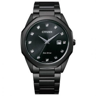 Citizen Eco-Drive Corso Stainless Steel Men's Diamond Watch