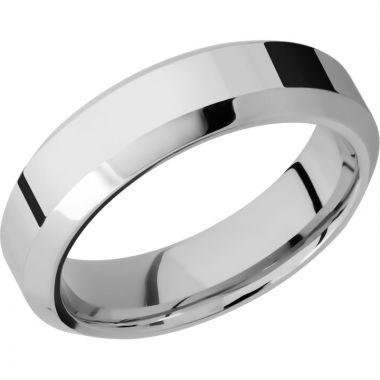 Lashbrook Rose & White Cobalt Chrome 6mm Men's Wedding Band