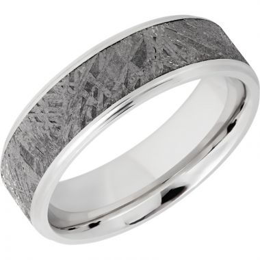 Lashbrook Cobalt Chrome Meteorite 7mm Men's Wedding Band