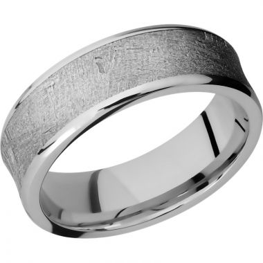 Lashbrook Cobalt Chrome Meteorite 7mm Men's Wedding Band
