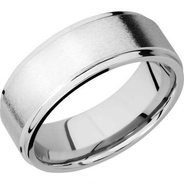 Lashbrook Cobalt Chrome 8mm Men's Wedding Band