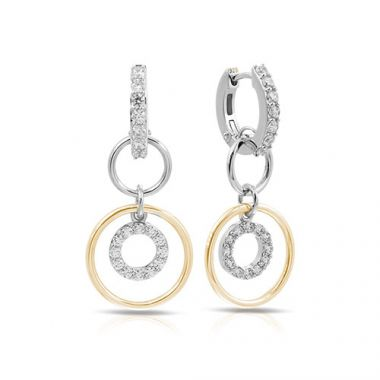 Belle Etoile Concentra Two Tone Earrings