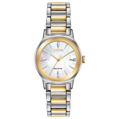 Citizen Eco-Drive Axiom Stainless Steel Women's Diamond Watch