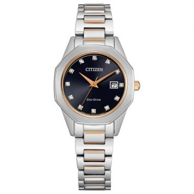 Citizen Eco-Drive Corso Stainless Steel Women's Diamond Watch