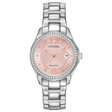 Citizen Eco-Drive Silhouette Crystal Stainless Steel Silver-Tone 29mm Women's Watch