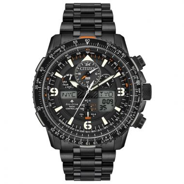 Citizen Eco-Drive Promaster Skyhawk Atomic Time Stainless Steel Black 46mm Men's Watch