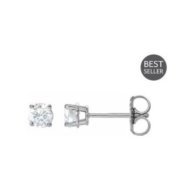 14k White 1/2 Carat Diamond Studs