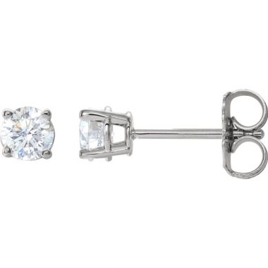 14k White Gold 1/2 Carat Diamond Stud Earrings