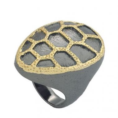 Jorge Revill 925 Fashion Ring with 18k & Black Ruthium Finish