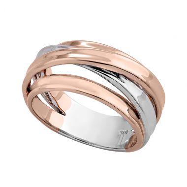 NEW Jorge Revilla Twist Sterling Silver & 18k Rose Ring
