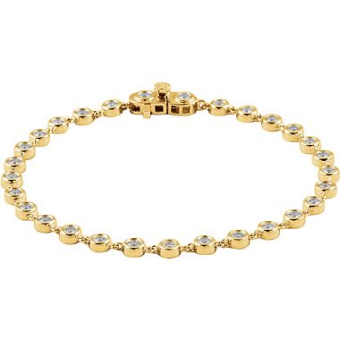 Sieger's Jewelers 14k Yellow Gold Diamond Line Bracelet