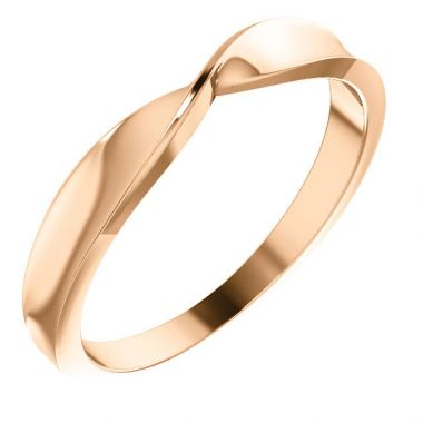 Sieger's Jewelers 14k Rose Gold Twisted Stackable Ring