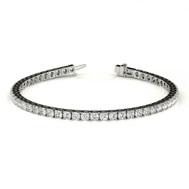 Platinum Diamond Tennis Bracelet (3.71ctw)