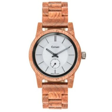 Tense Hampton II Walnut/White Wooden Watch