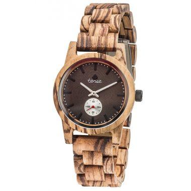 Gents Hampton Zebra Wood Tense Wooden Watch