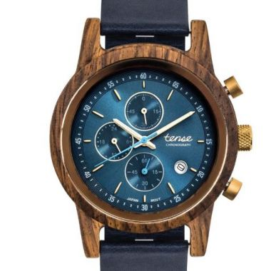 Cambridge Chrono Teak/Gold/Blue