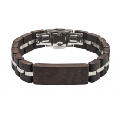Tense Wood Bracelet Leadwood/Silver