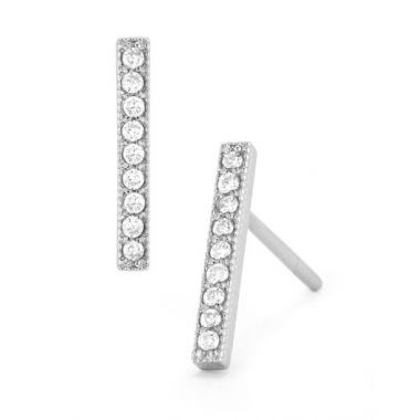 Barbela Diamond Bar Earrings