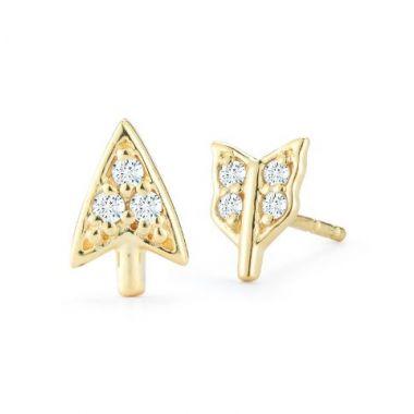 Barbela Diamond Broken Arrow Earrings