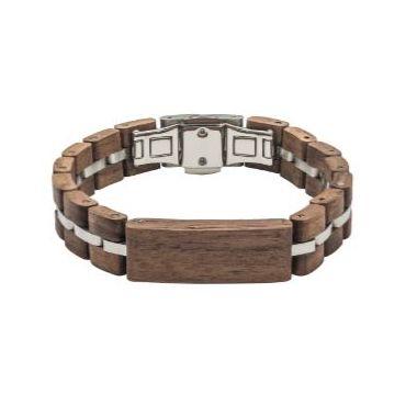 Tense Wood Bracelet Walnut/Silver