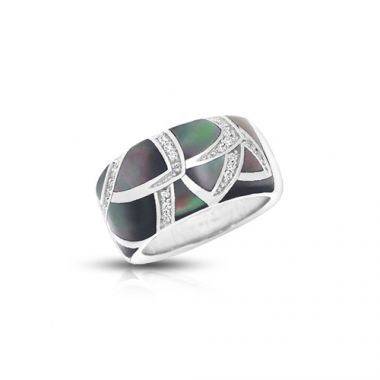 Belle Etoile Sirena Black Mother-of-Pearl Ring