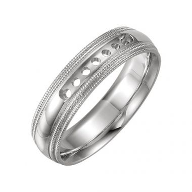 Sieger's Jewelers 14k White Gold  Wedding Band