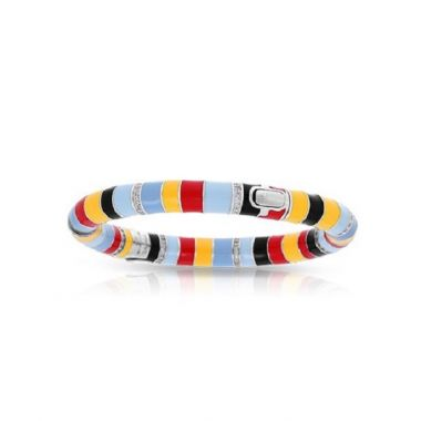 Belle Etoile Cirque Red, Yellow, & Black Bangle
