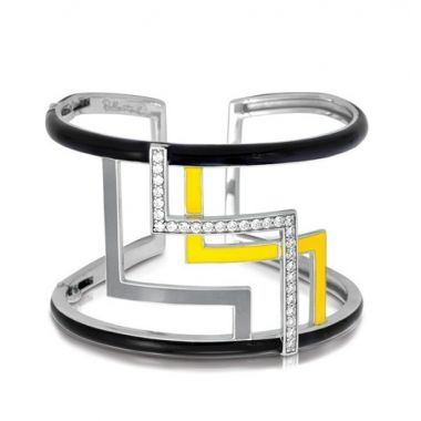 Belle Etoile Convergence Black & Yellow Bangle