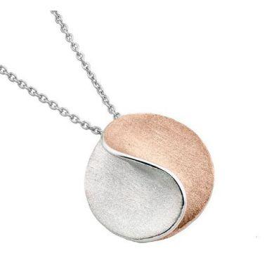 Jorge Revila Necklace Sun Pink Two Tone Necklace