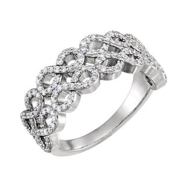 Sieger's Jewelers 14k White Gold Diamond Infinity-Style Ring
