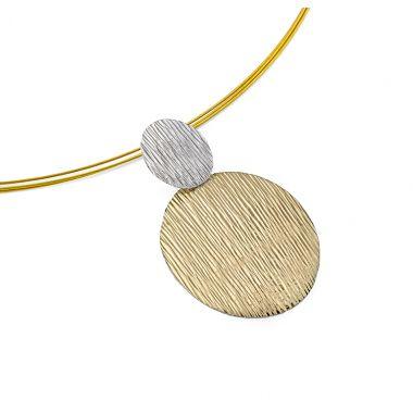 """New"" Jorge Revilla Sterling & 18k Yellow Fashion Necklace"