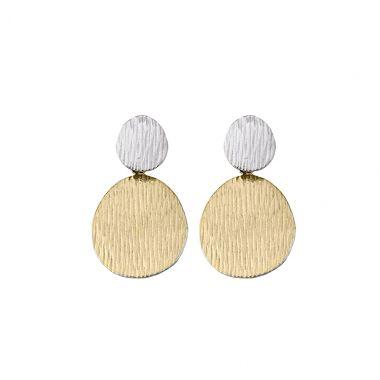 New Jorge Revilla Sterling & 18k Yellow Fashion dangle Earrings