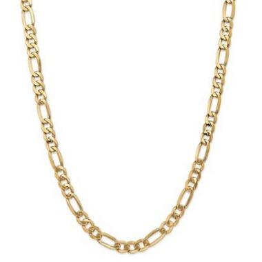 14k 7MM Flat Figaro Chain