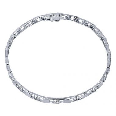 14k White Gold .23ct Diamond Bracelet