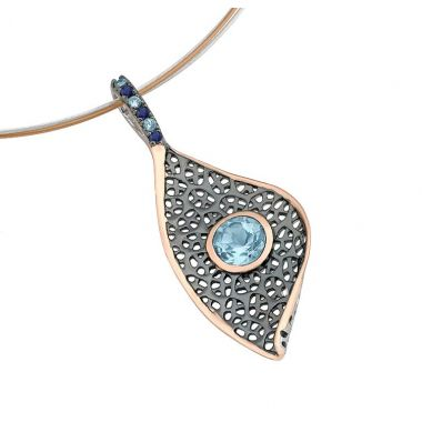 Jorge Revilla Sailes Blue Topaz/Sapphire Fashion Pendant