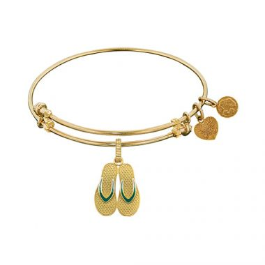 Brass with Yellow Finish Enamel Flip Flop Charm For Angelica Bangle