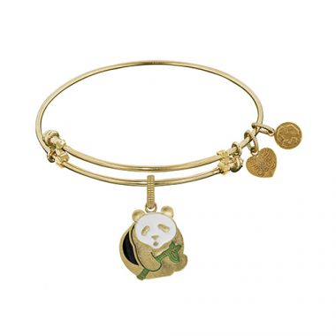 Angelica Adjustable Yellow Brass Panda Charm For Angelica Bangle