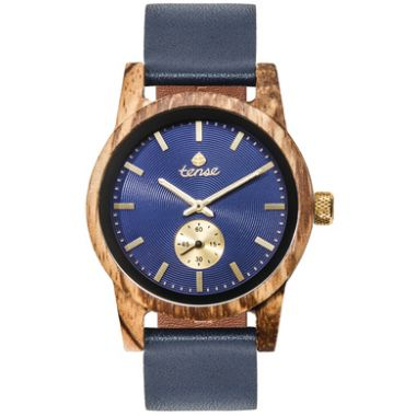 Leather Hampton Navy/Zebrawood