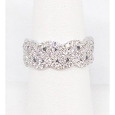14k White Gold 1.27 Carat Diamond Anniversary Band