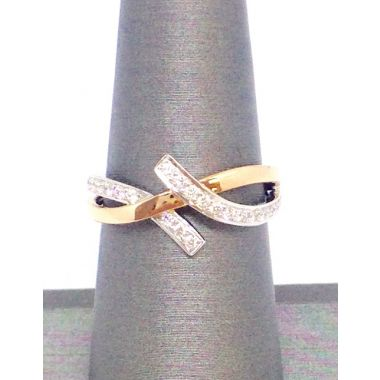 14k White and Rose Gold Diamond Fashion Ring