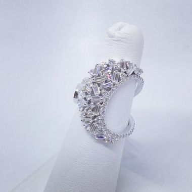 14k White Gold 1.27 Carat Diamond Fashion Ring