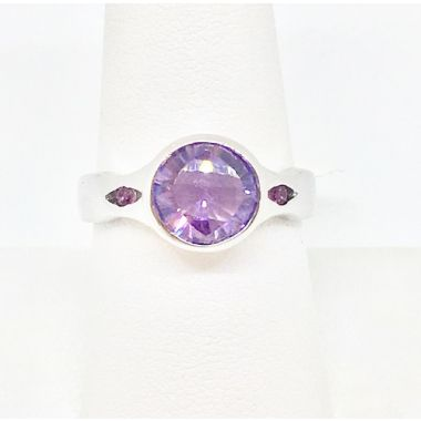 3.10 Carat Amethyst Sterling Silver Ring