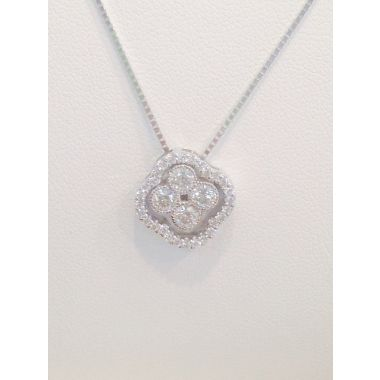 3/4 CTTW Diamond Pendant & Gold Necklace