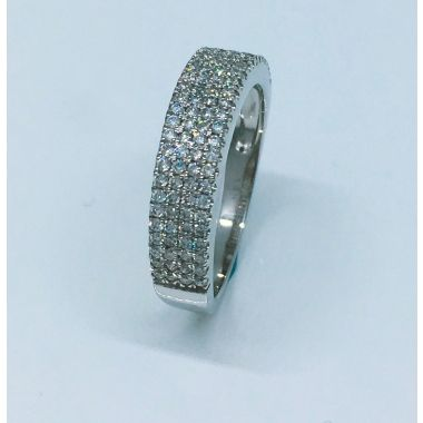 14k White Gold  Diamond Anniversary Ring (.50ctw)